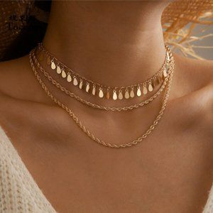 Gold Tone Chocker Necklace